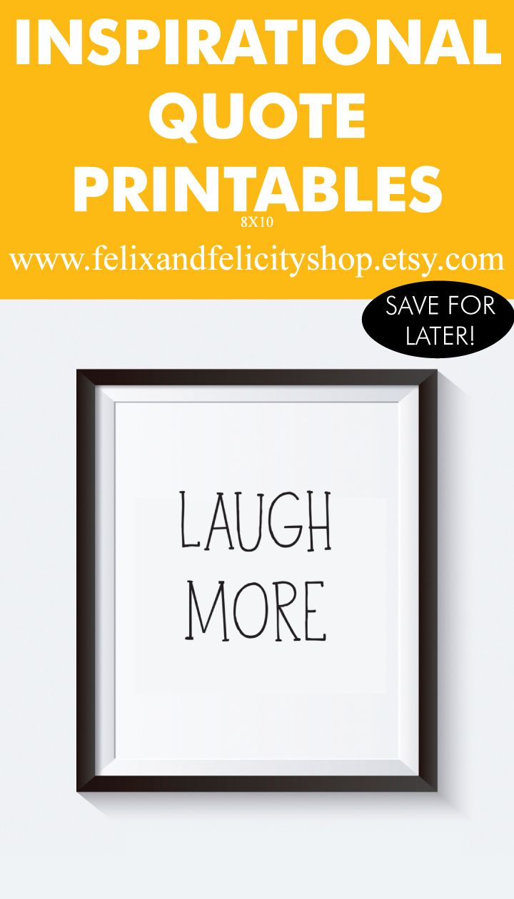 8x10 Printable Inspirational Quotes, Wall Art, Home Decor, Laugh ...