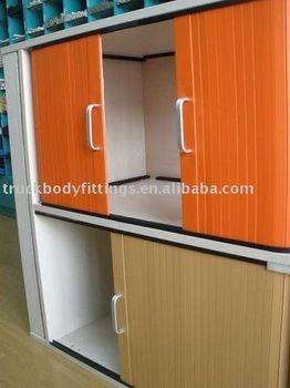 High Quality Aluminum Alloy Curtain Door Cabinet Roll Shutter Door