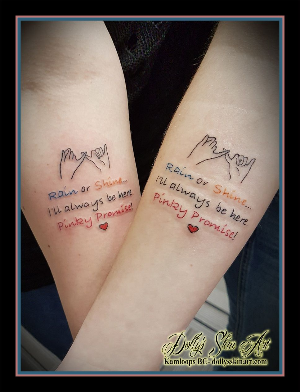 Dolly's Skin Art Promise tattoo, Pinky promise tattoo