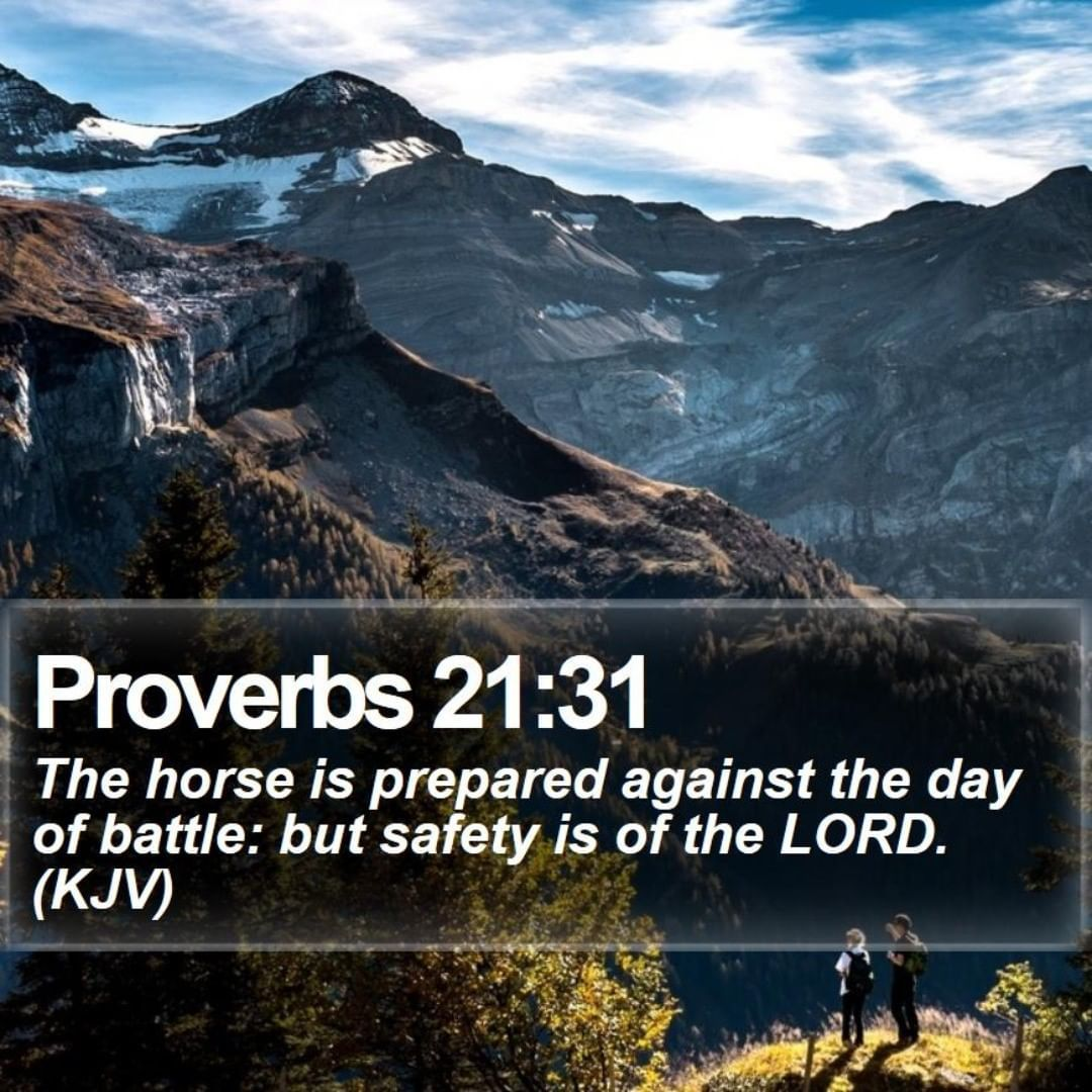 Proverbs 2131 The horse is prepared against the day of