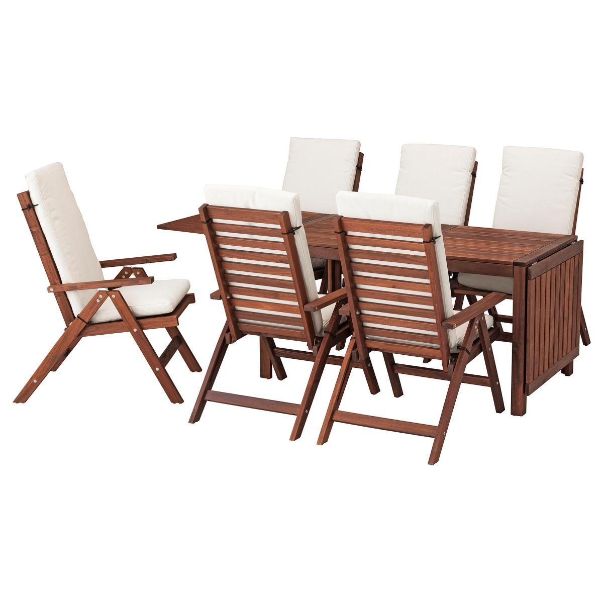 Gut ÄPPLARÖ, Tisch+6 Hochlehner/außen, Braun Las., Beige Jetzt Bestellen Unter:  Https://moebel.ladendirekt.de/garten/gartenmoebel/gartenmoebel Set/?uidu003d28467e59  ...