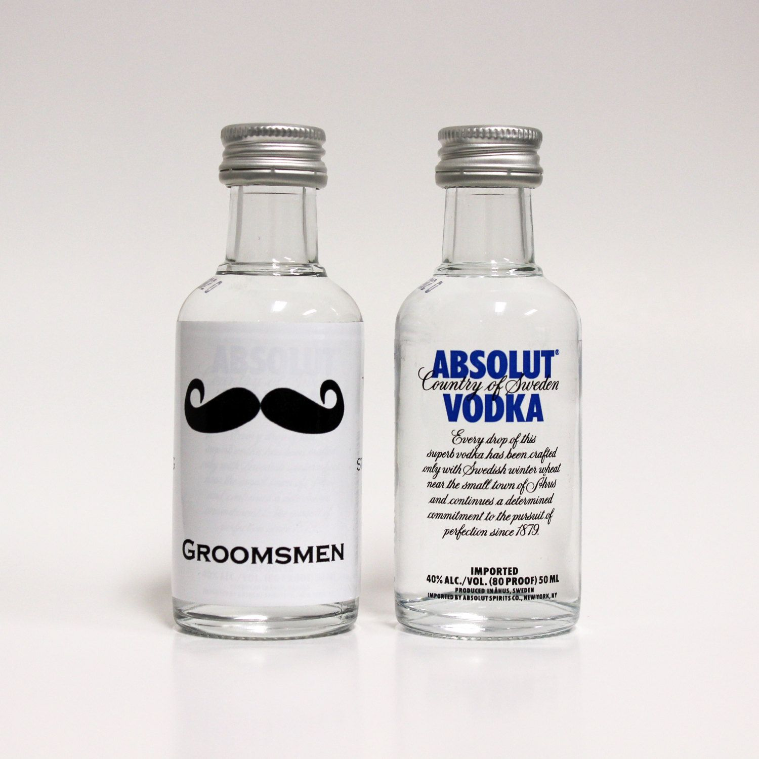 Custom Absolut Vodka Mini Bottle Labels by LiquidCourage on Etsy ...