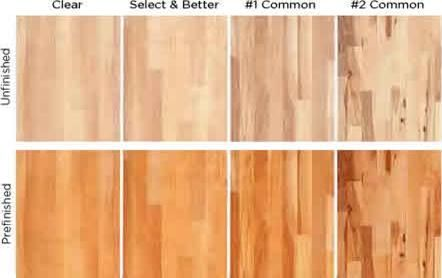 Comparison Of White Oak Select And 1 Common Grades
