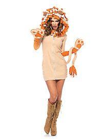 Adult Cozy Dress Lion Costume | Halloween | Pinterest | Lion halloween costume Animal costumes and Costumes  sc 1 st  Pinterest & Adult Cozy Dress Lion Costume | Halloween | Pinterest | Lion ...