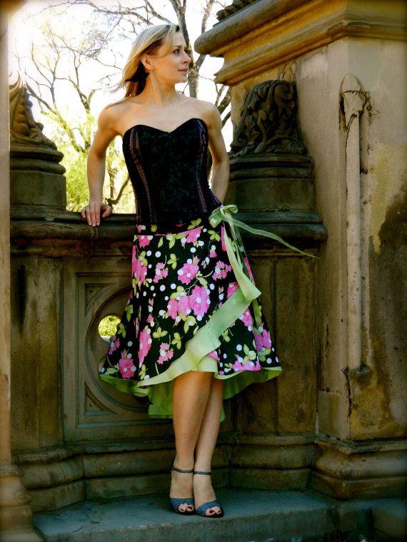Argentine Tango Dance Skirt  Nhen  Nhen
