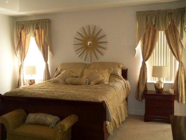 Country Bedroom Decorating Ideas With Gold Color Scheme Picture