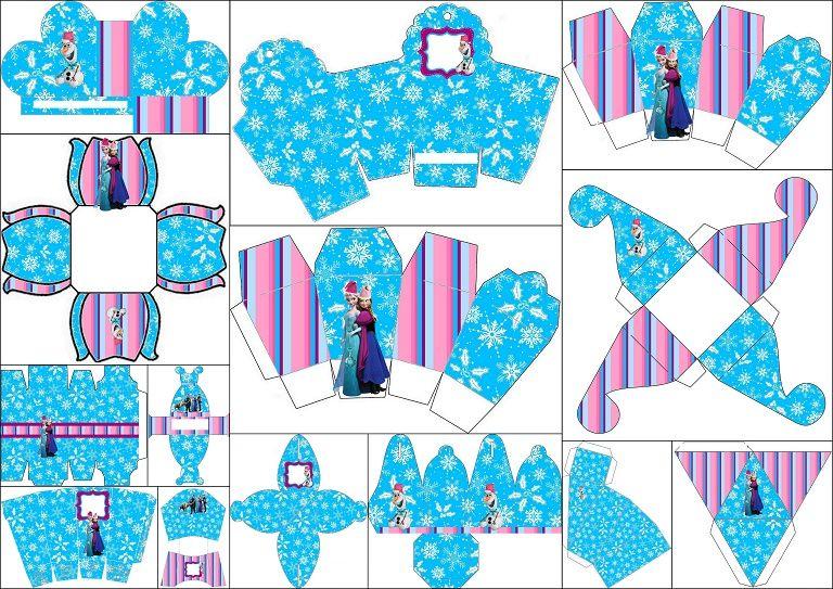 Frozen para Navidad: Cajas para Imprimir Gratis. | craft | Pinterest ...