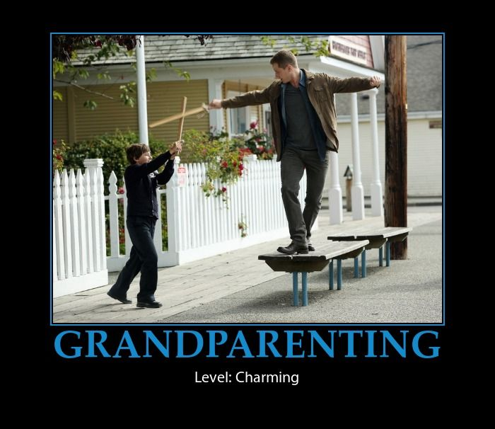 Prince Charming doing a fantastic job at the grand-parenting thing :)