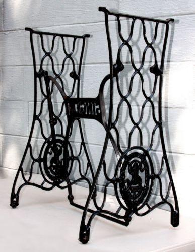 Antique Singer Treadle Sewing Machine Cast Iron Cabinet