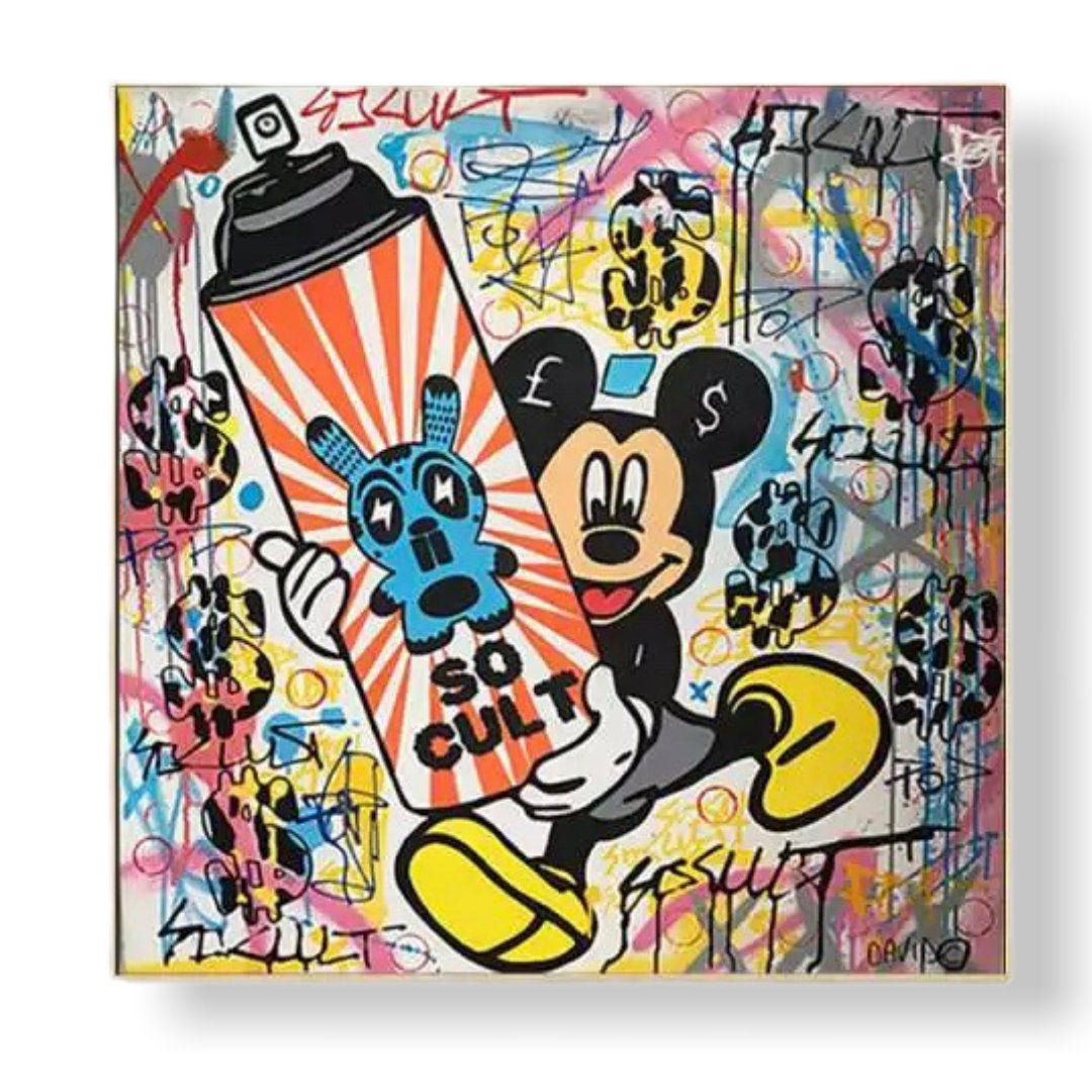 Mickey Mouse Graffiti Canvas Printing Wall Art Home Decoration Etsy In 2020 Pop Culture Art Art Canvas Prints
