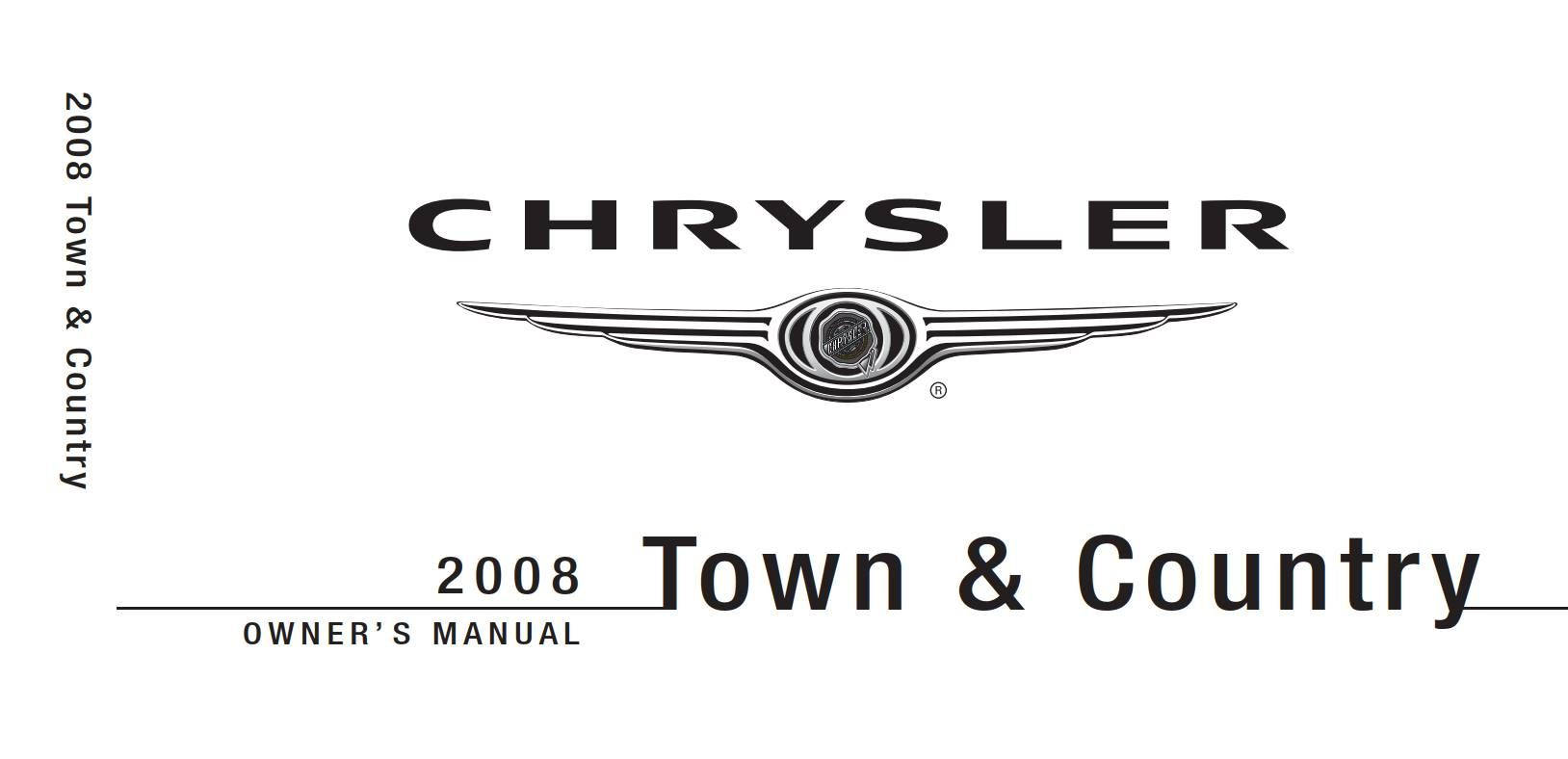 Chrysler Town And Country 2008 Owner's Manual has been
