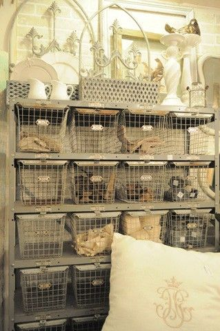 These Are So Cool But So Expensive In Antique Stores...Iu0027ll · Wire Basket  StorageMetal ...
