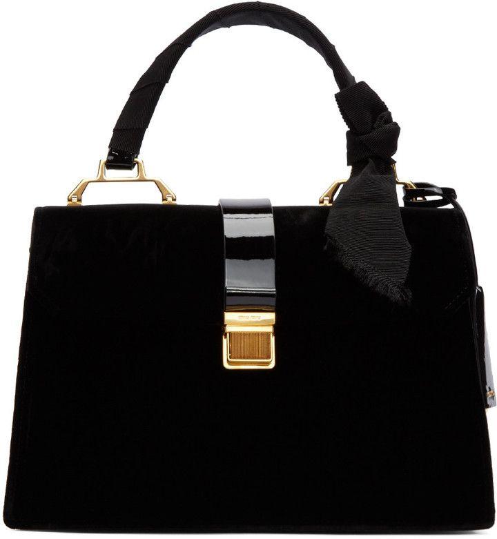 Miu Miu Black Velvet Duffle Bag  3ed8844b90a65