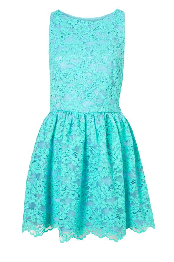 Bright Aqua Blue Dress