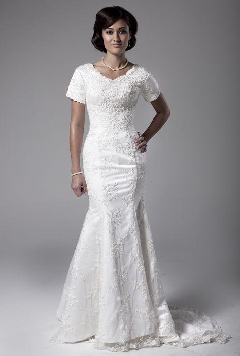 Lds Temple Ready Wedding Dress | Modest Wedding Gowns | Lds Wedding ...