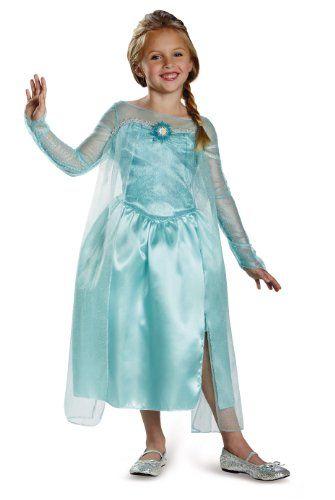 Disguise Disney S Frozen Elsa Snow Queen Gown Classic Girls Costume Medium 7 8 15 99 3 Shipping Fantasia Princesa Fantasias Look
