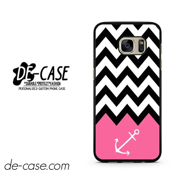 Black White Chevron Pink Anchor DEAL-1889 Samsung Phonecase Cover For Samsung Galaxy S7 / S7 Edge