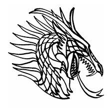 Https Www Google Com Search Q Free Cute Dragon Head Lineart