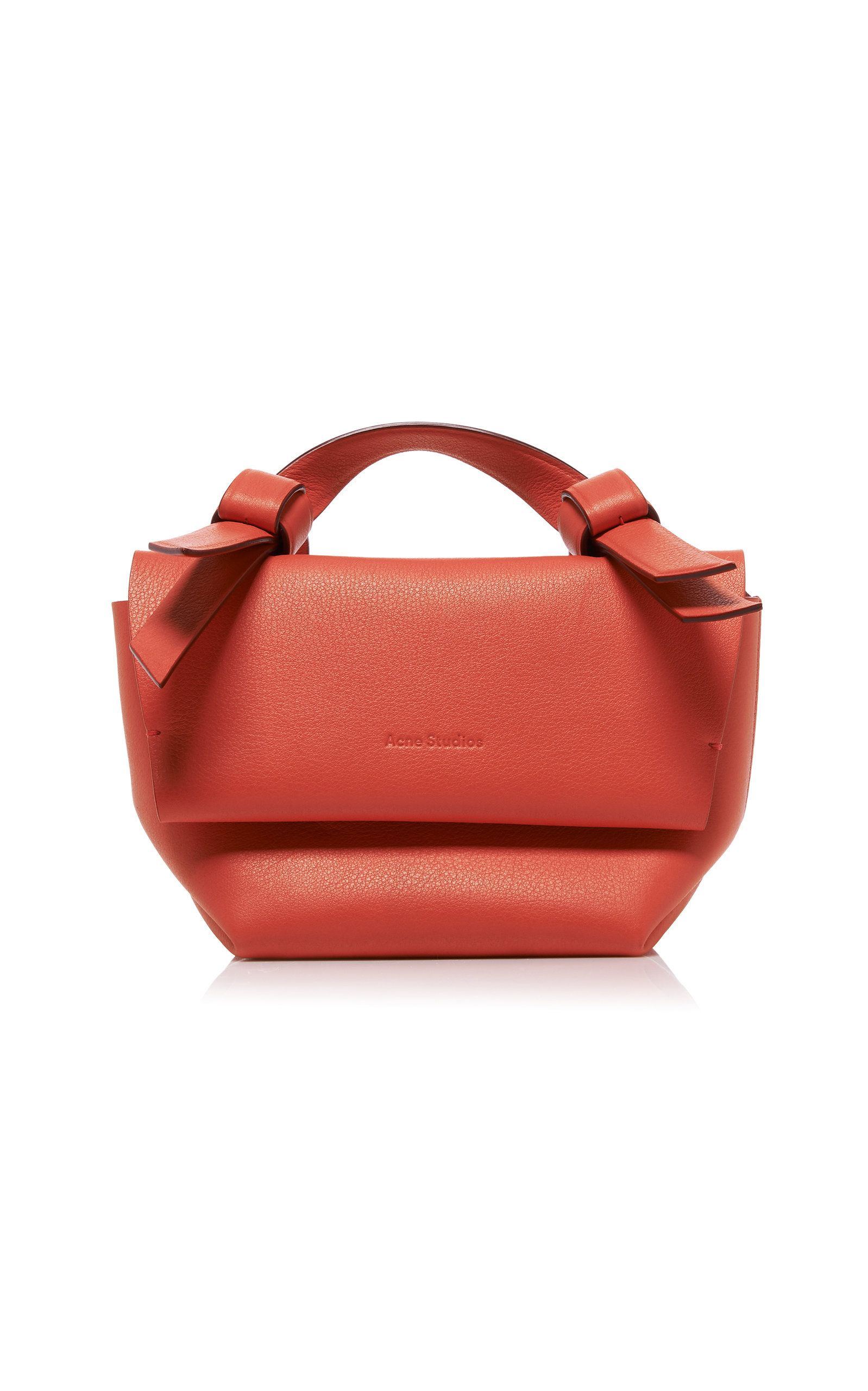 f0c266b259 SS 2019 ACNE STUDIOS Musubi Milli Knotted Leather Shoulder Bag ...