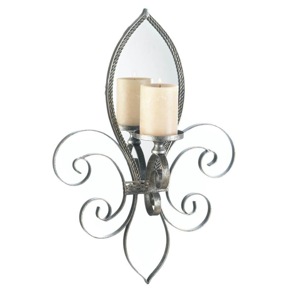 Sconce Candle Mirrored Decorative Indoor Wall Sconce Candles
