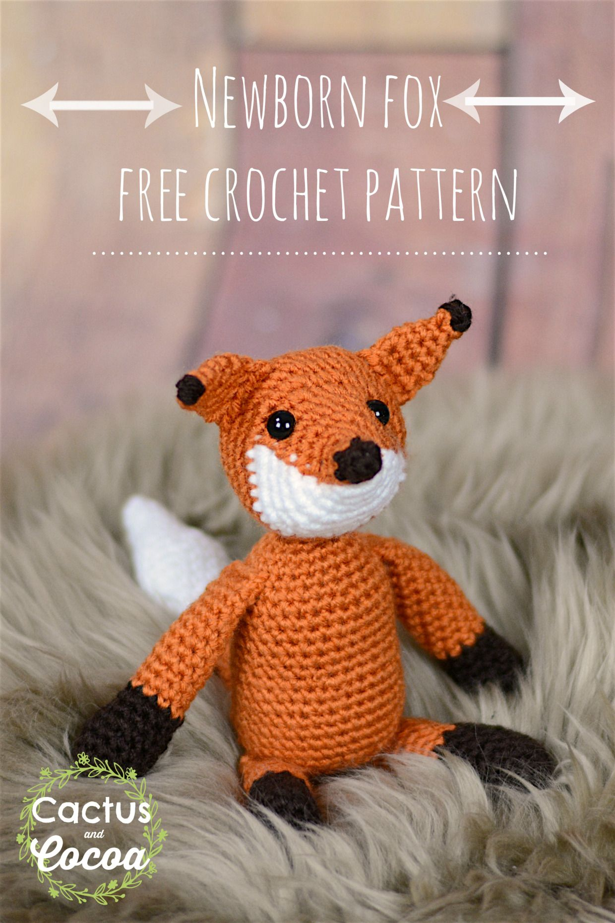 Newborn Fox FREE crochet pattern! March is National Crochet Month ...