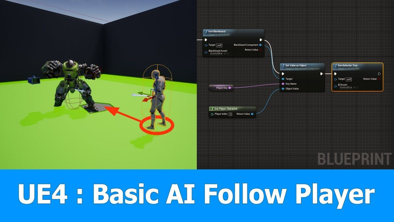 Unreal Engine Ai Controller Follow Player Unreal Engine Video Game Development Game Design