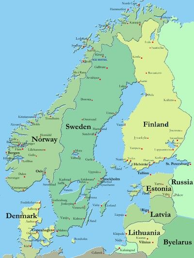 Scandinavian Countries Scandinavia Map Denmark History