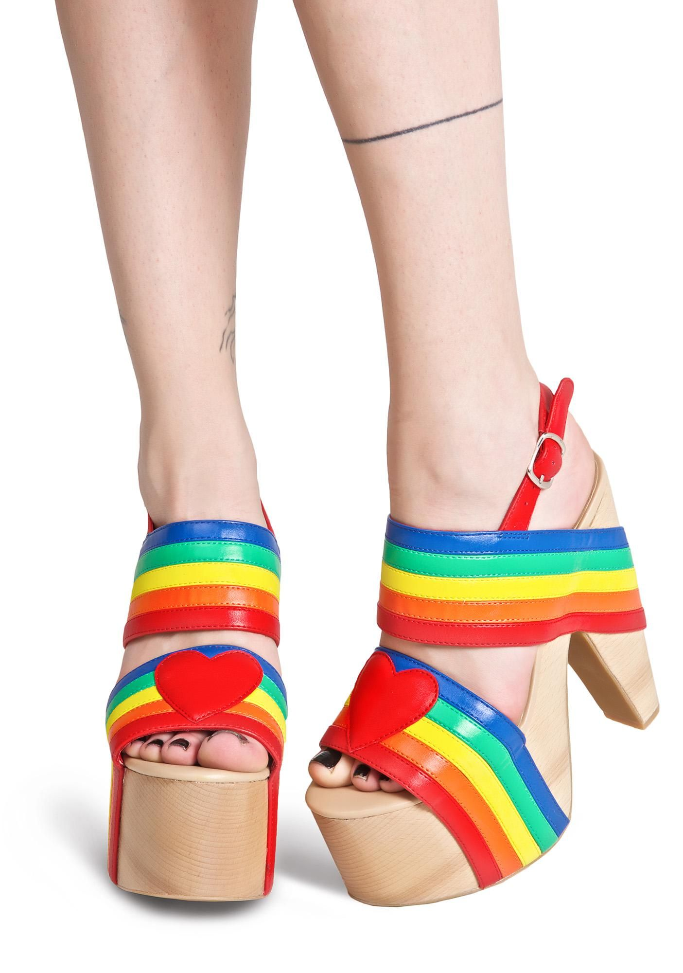 1bd537f567e Never ever come down with these gorgeous platforms that have comfy  cushioned insoles and gorgeous vibrant vegan leather straps ...