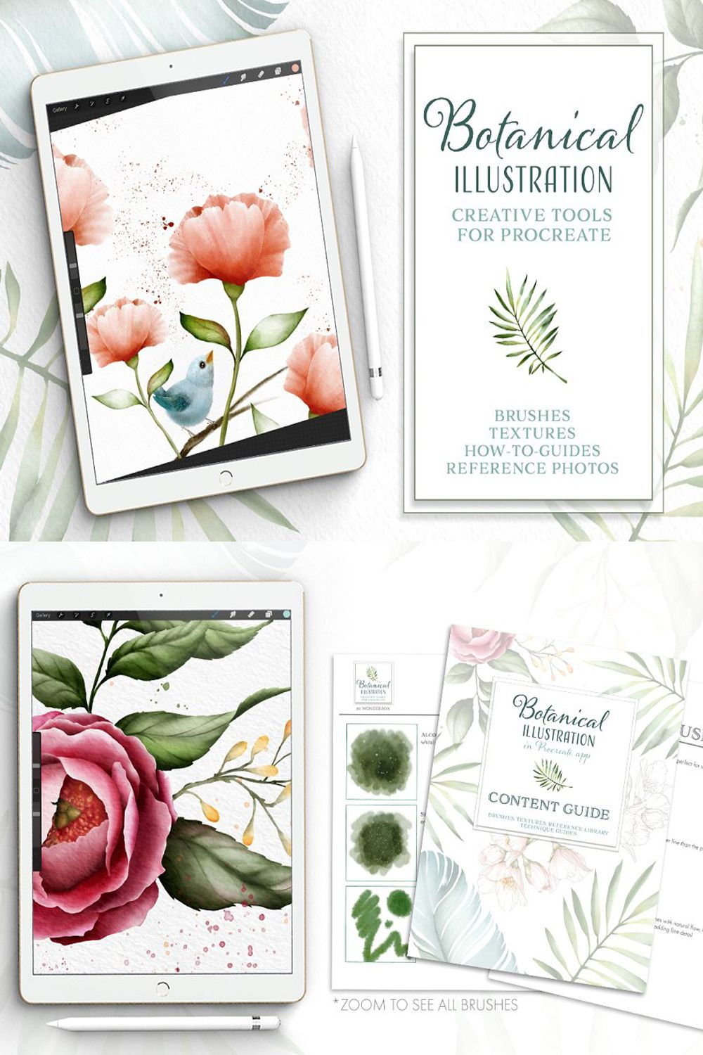 Procreate Watercolor Botanical Kit In 2020 Digital Art Tutorial