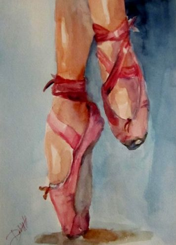 dance shoes no2 original art painting by delilah smith