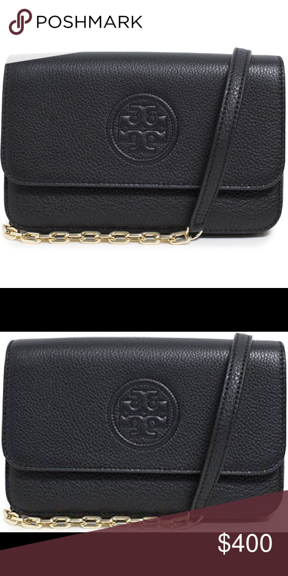 14d7be861 NWT Black Tory Burch Bag Bombe Leather Crossbody NWT Black Tory Burch Bag  Bombe Mini TB
