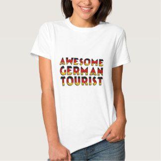 Funny Awesome #German #Tourist Flag Typography Shirt #travel #tourist #funnyshirt #Germany