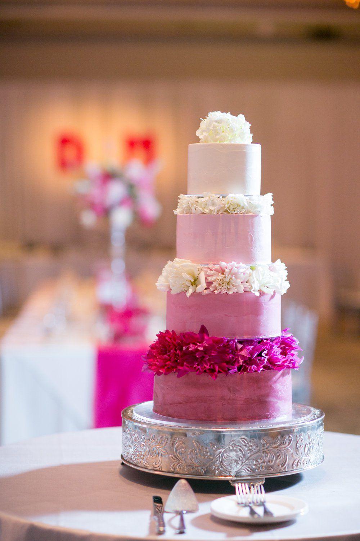 Pink Ombre Wedding Cake | Wedding Cake | Pinterest | Wedding cake ...