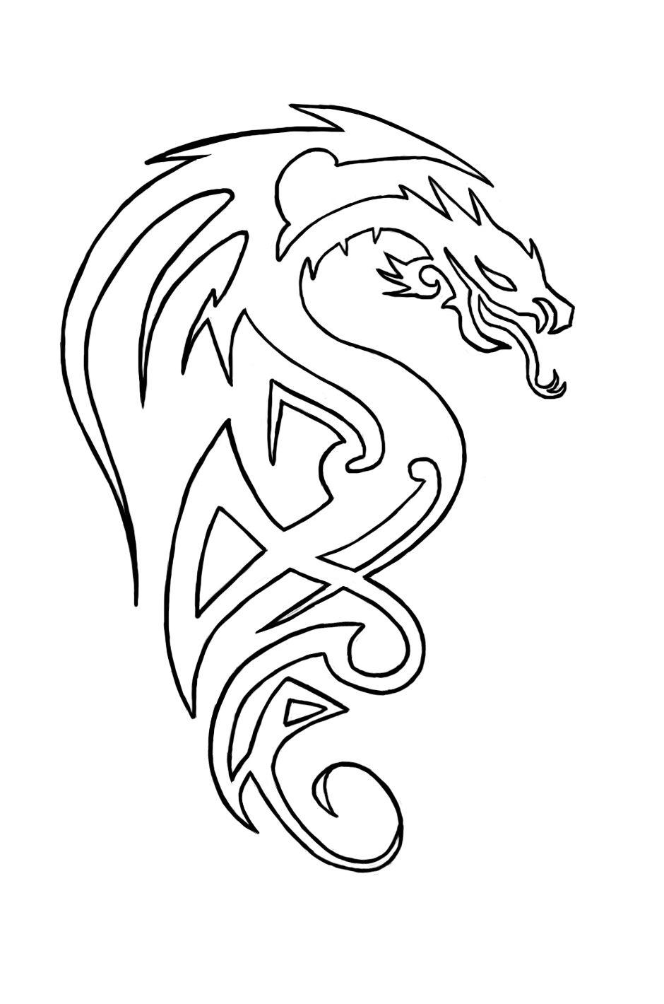 Celtic Dragon Tattoo Outlines Einladungen … Pinteres…