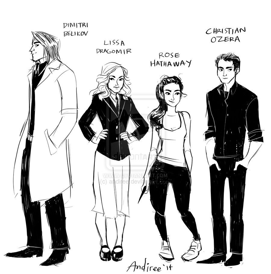 Vampire Academy Gang By Andiree.deviantart.com On