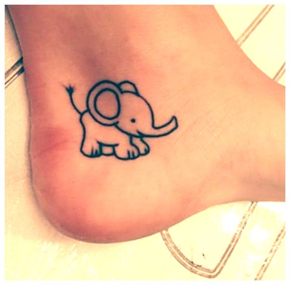 Inspirational Small Animals Tattoo That Are Easy And Cute Elephant Tattoo Small Elephant Tattoos Baby Tattoos