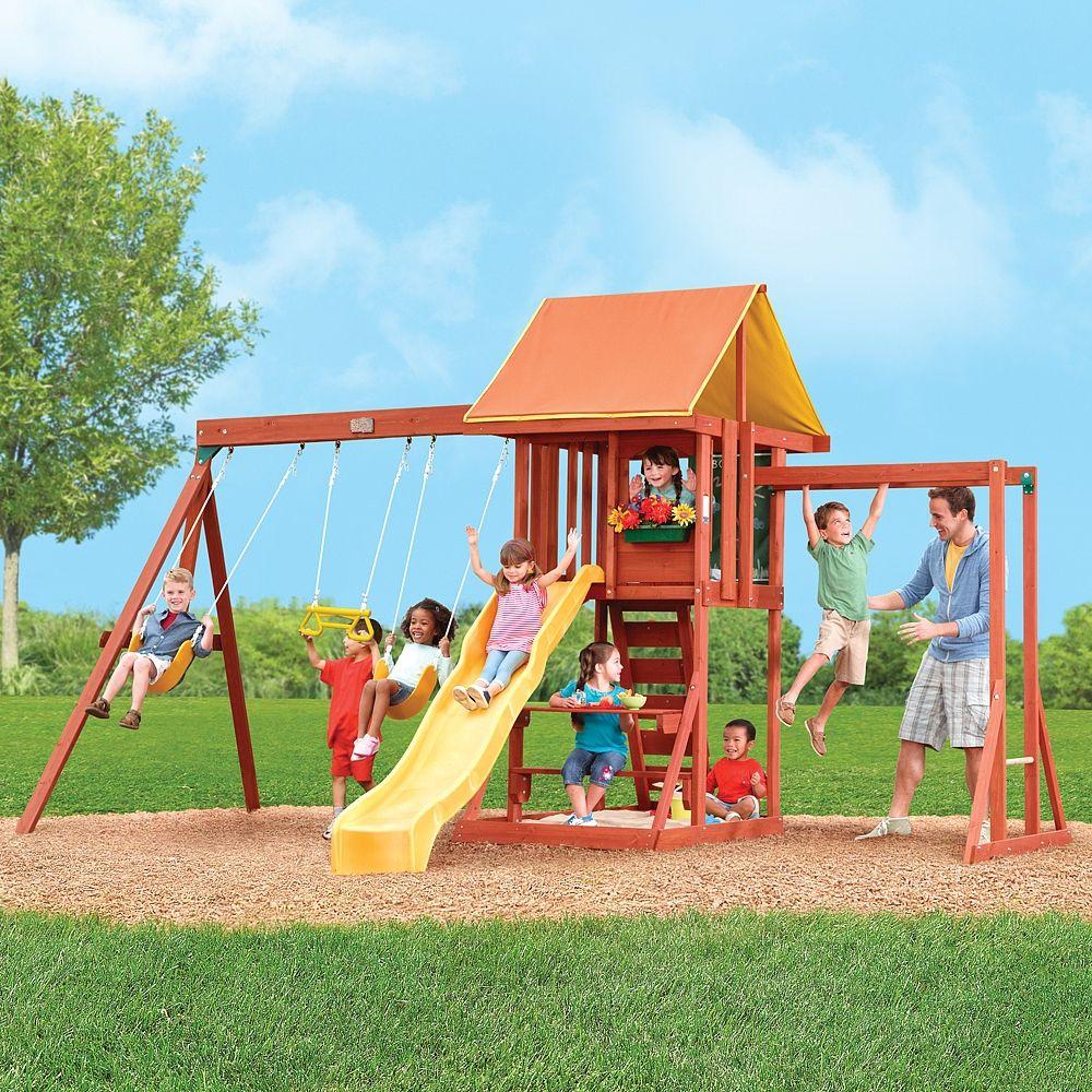 Big Backyard - Cedarbrook 2 Wooden Play Centre - Solowave ...
