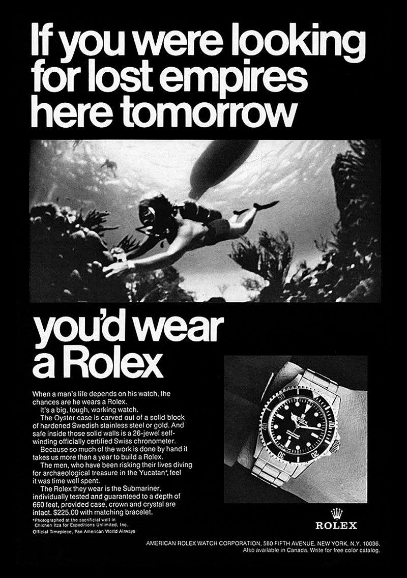 Vintage Rolex ad #rolexsubmariner