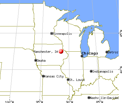 Glen Ellen Illinois Map.Manchester Iowa Map Spent 2 Years In This Town Some Of The