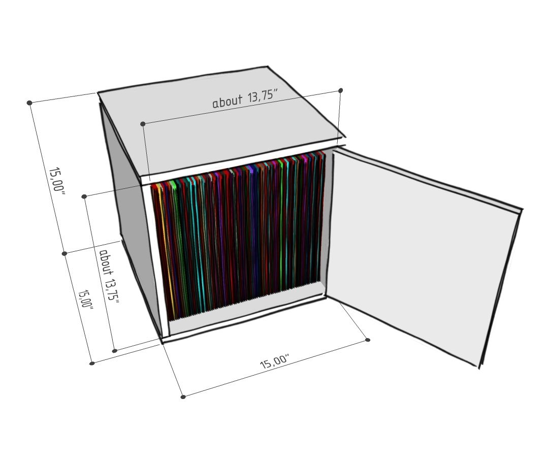 Foremost Modular Door Cube Drawing With Dimensions