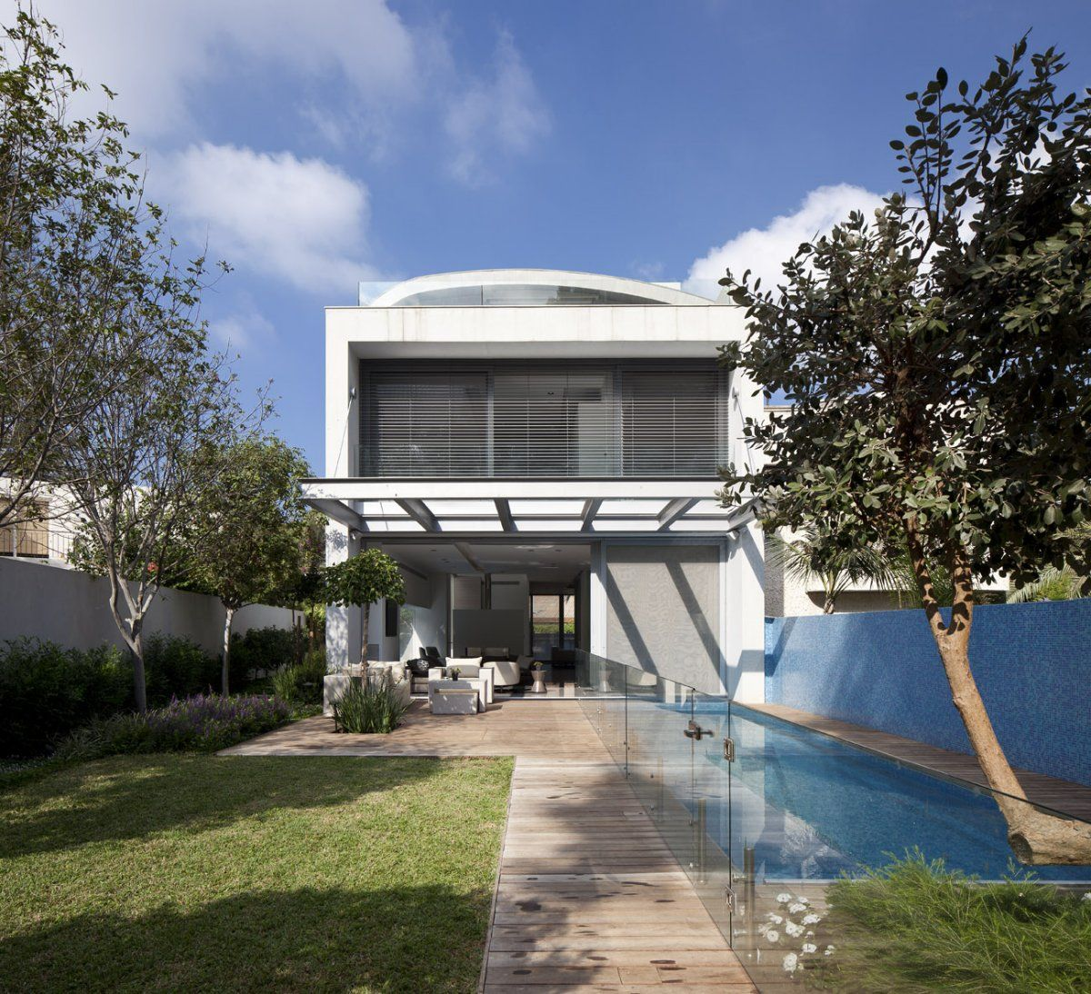 Domb Architects have designed the SL House located in a suburb of Tel Aviv, Israel.