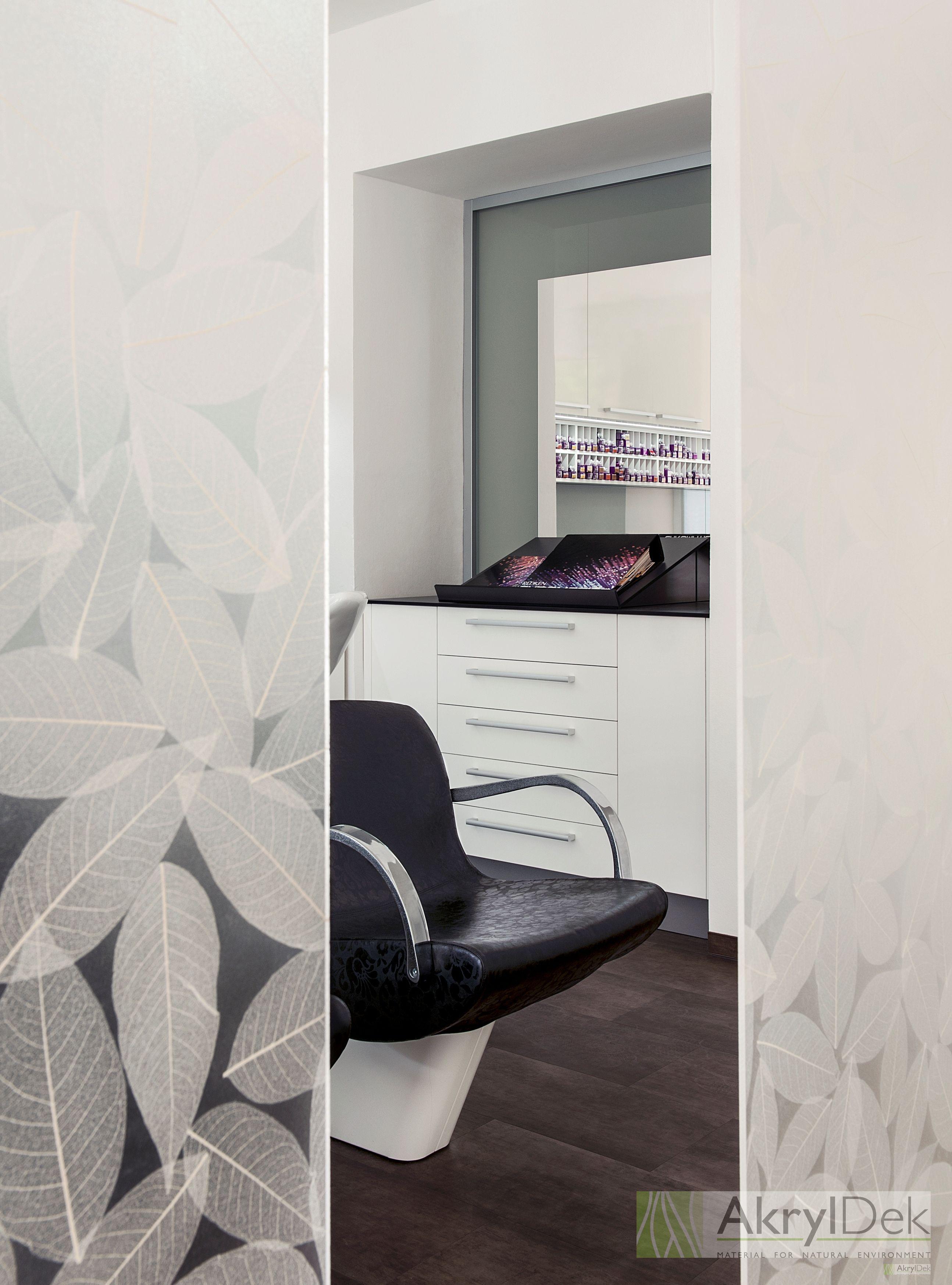 Hairdressing Saloon Designed By Resin Panel With Organic Leaves Resin Panel Plexiglass Acrylic Translucent Ecoresin Panels Organics Wall Decoration I