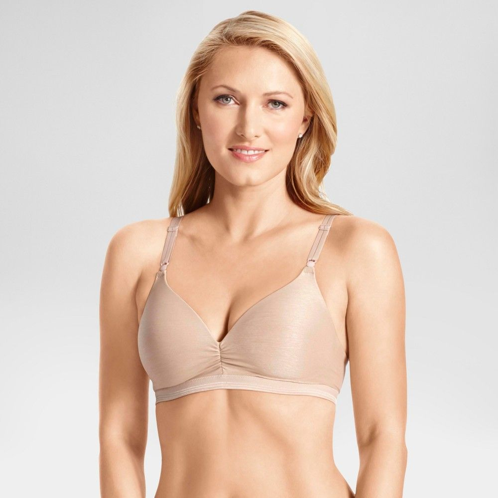 a2634efc887b5 Simply Perfect by Warner s Women s Light Lift Cooling Wireless Bra Toasted  Almond 36B