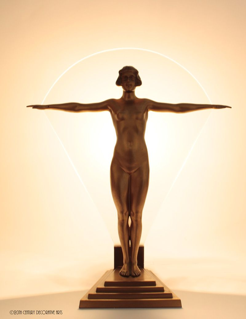 Art Deco Spelter Lamp Germany 1930s More at FOSTERGINGER At