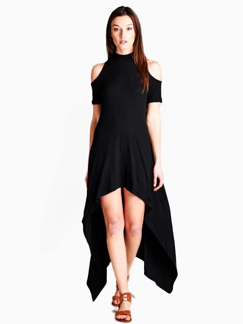 Loving People Mock Neck Hi Low Dress Modishonline Com Hi Low Dresses Dresses Mock Neck [ 1071 x 804 Pixel ]
