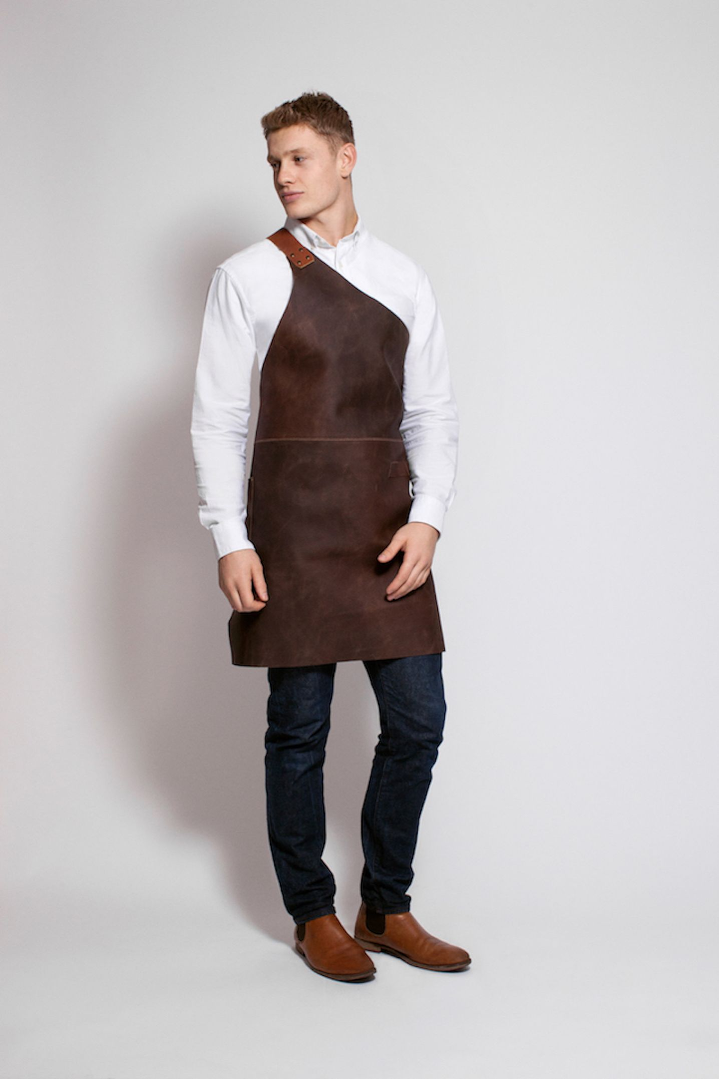 Full Body Leather One Strap Butchers Apron in 2020