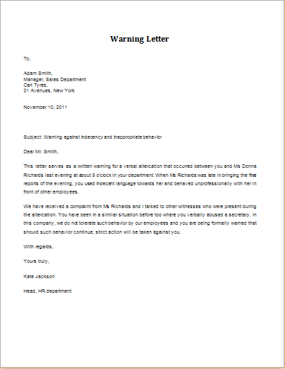 Verbal altercation warning letter download at httpwww verbal altercation warning letter download at httpwordexceltemplateswarning letter for verbal altercation altavistaventures