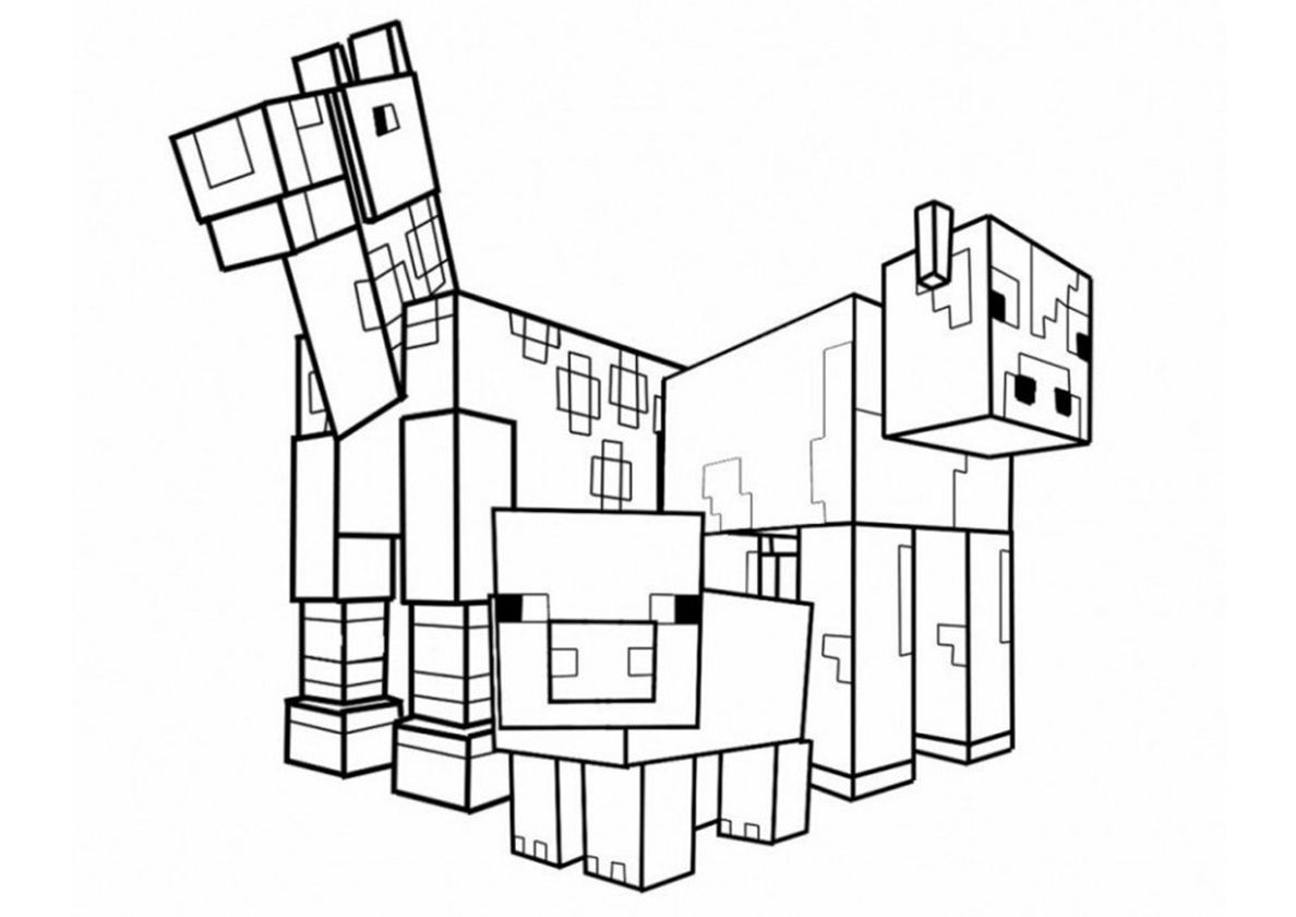 Minecraft Mobs | Minecraft coloring pages, Coloring pages ...