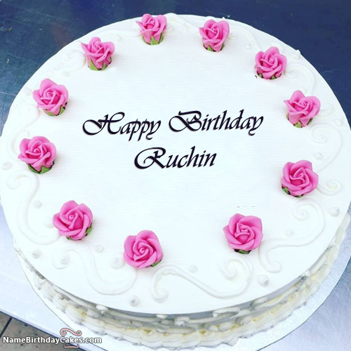 I have written ruchin Name on Cakes and Wishes on this birthday wish