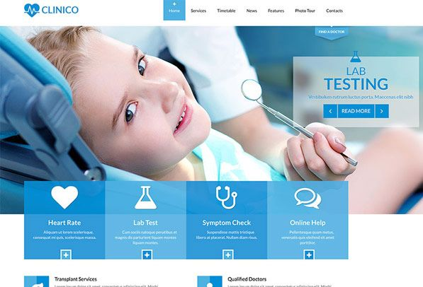 Clinico Dentist Medical Html5 Website Template Health Medical